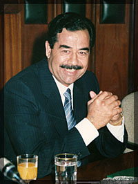 "Saddam - distraught after his cat ""Jemima"" was bumped off by the CIA"